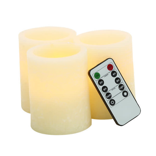 3 LED Candles w/remote