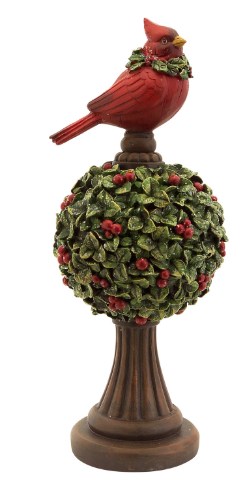 Mistletoe Topiary with Cardinal (Large)