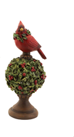 Mistletoe Topiary With Cardinal (Small)