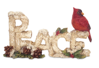 PEACE with Cardinal Figurine