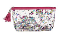 Sparkle Zipper Bag with Tassel PINK