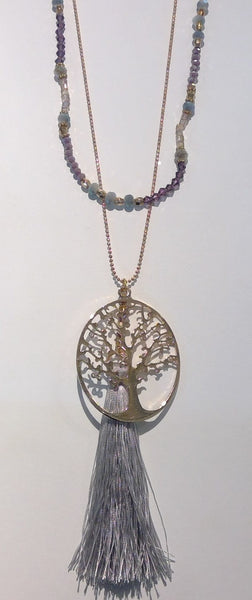 Tree of Life Family Necklace - purple