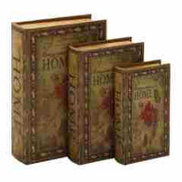 Wooden Book Box - HOME, small