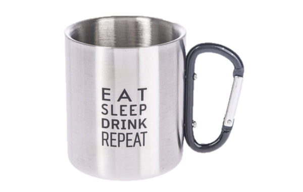 Carabiner Mug - EAT, SLEEP, DRINK