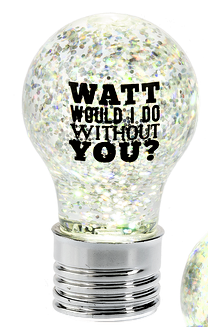 Text Bulb LED Mini Shimmer WATT WOULD I DO