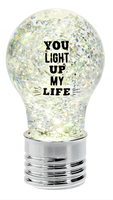 Text Bulb LED Mini Shimmer YOU LIGHT UP MY LIFE
