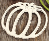 White Iron Pumpkin Trivet