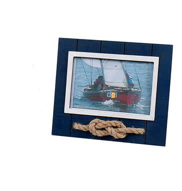Rope Knot Frame, blue (4x6)