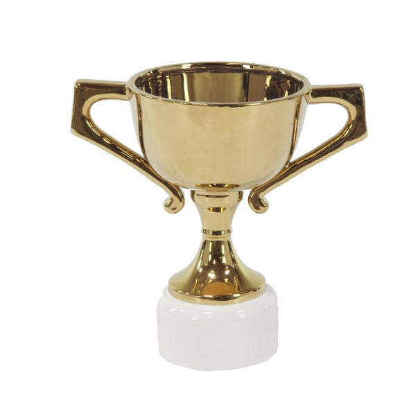 White/Gold Ceramic Trophy Stand