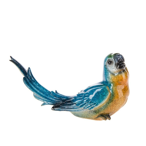 Blue Parrot Longtail Polystone