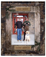 EAT SLEEP HUNT - Camo Photo Frame (5x7)