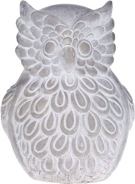 Cement Embossed Owl