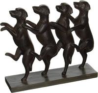 Polystone Standing Dogs