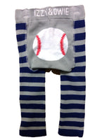 Baby Leggings Blue & Gray Baseball (6-12m)