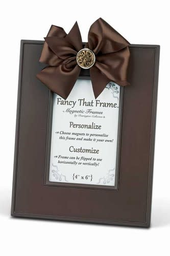 Chocolate Linen Frame