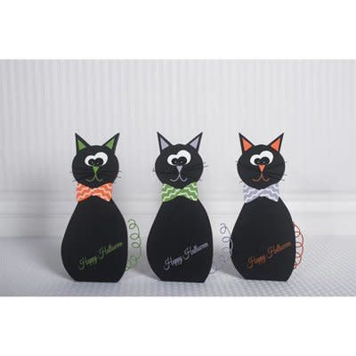 Wooden Black Cat (Clearance)