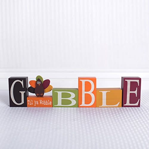 GOBBLE Wood Block Set