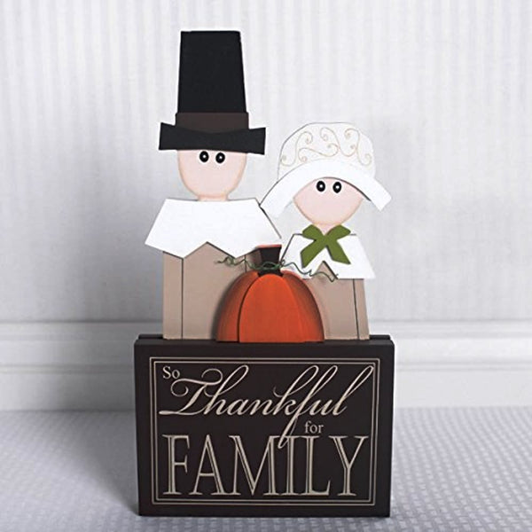 THANKFUL Pilgrims Wood Block
