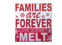 FAMILIES ARE FOREVER Box Sign (Clearance)