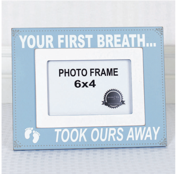 YOUR FIRST BREATH Frame (blue)