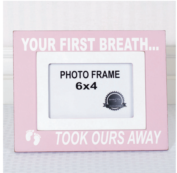 YOUR FIRST BREATH Frame (pink)