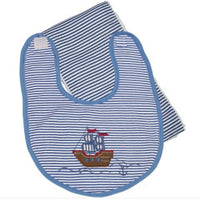 Pirate Ship Bib & Burp Set
