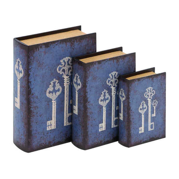 Vinyl Book Box - BLUE KEY (set of 3)