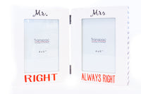 Folding Frame - MR RIGHT/ MRS ALWAYS RIGHT