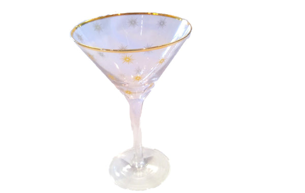 Martini Glass with Gold Stars