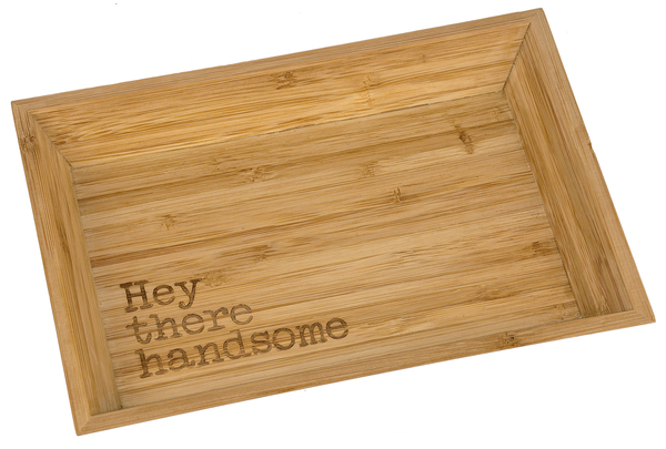 HEY THERE Bamboo Tray