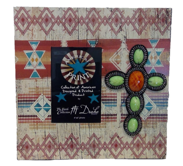 Layered Photo Frame - Tribal w/Beads