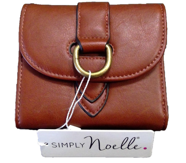 Buckle Down Snap Wallet-CINNAMON