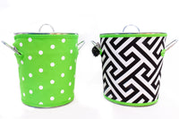 Ice Bucket - GREEN GEOMETRIC / DOTS