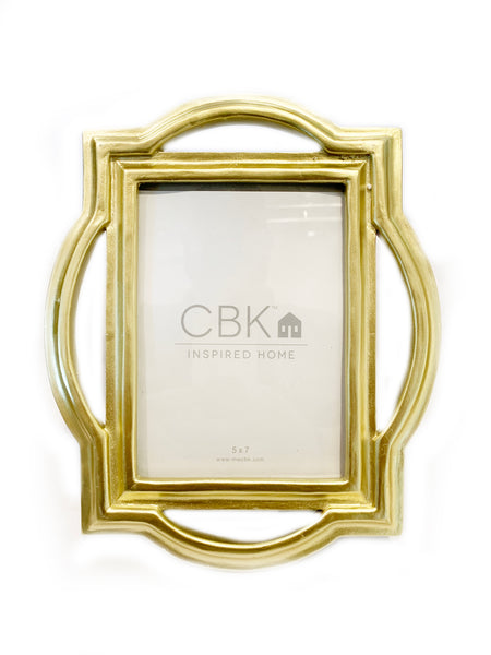 Gold Geometric 5x7 Frame