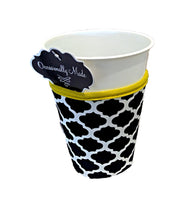 Cup Coozie - Black/Yellow