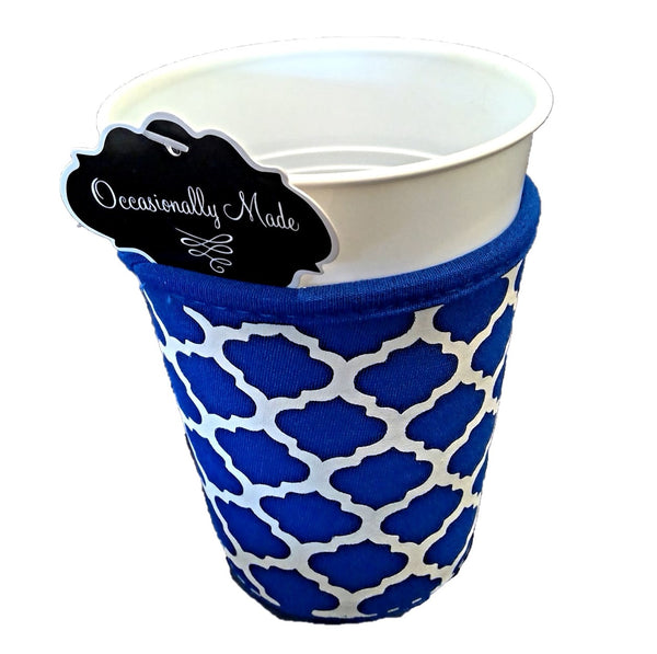 Cup Coozie - Royal/White