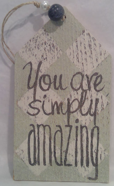AMAZING - Wooden Gift Tag (Clearance)