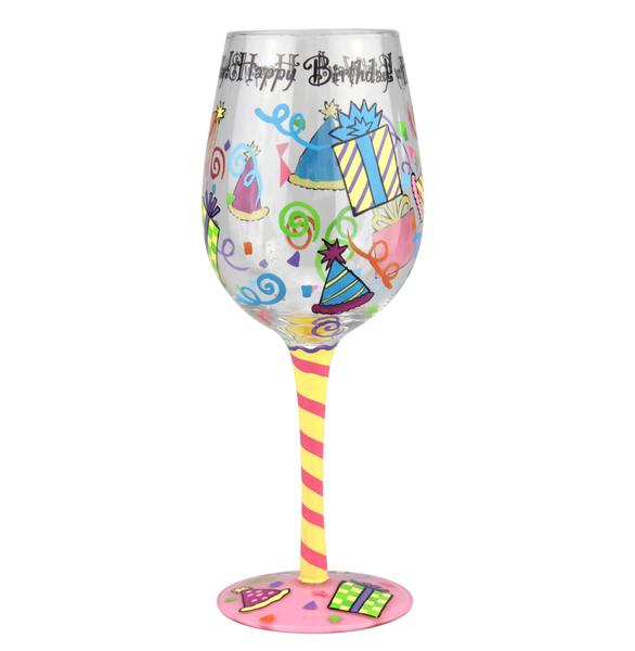 Wine Glass - HAPPY BIRTHDAY