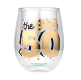 Stemless Wine - 50th BIRTHDAY