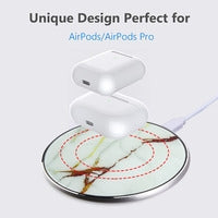 Fast Wireless Charger - White Marble