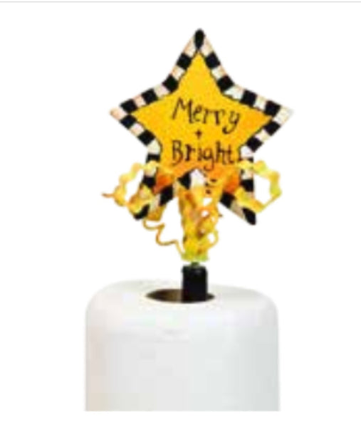 MERRY & BRIGHT Star Finial