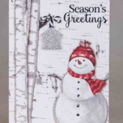 Christmas Picture on Block Sign - Snowman