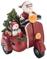 Light Up Motor Cycle with Santa & Snowman