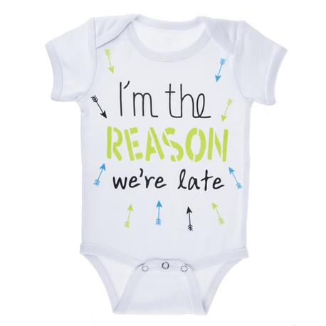 Diapershirt I'm the Reason We're Late (0-6m)