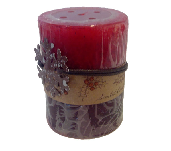 3x4 Two-Tone Rustic Apple Spice Candle