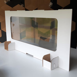 Cardboard temporary screen recyclable