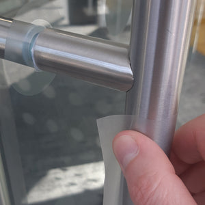 SilvA anti-microbial door handle covering