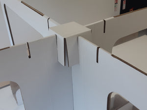 1200mm Temporary Desk Divider, Vision Panel, 100% Recyclable, FROM £34 each