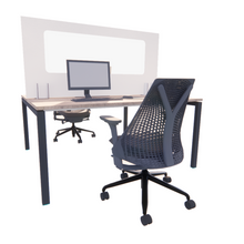 Load image into Gallery viewer, 1600mm Temporary Desk Divider, Vision Panel, 100% Recyclable, FROM £37 each