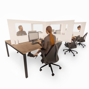 1600mm Temporary Desk Divider, Vision Panel, 100% Recyclable, FROM £37 each